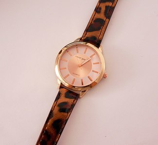Reloj animal print marron