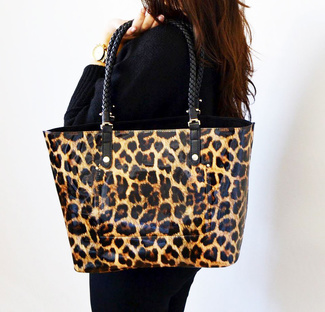 Bolso animal print reversible